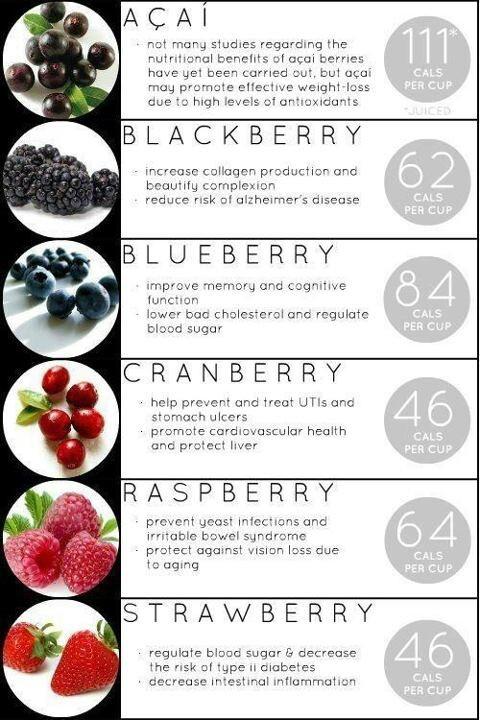 Berries acai blackberry blueberry cranberry raspberry strawberry